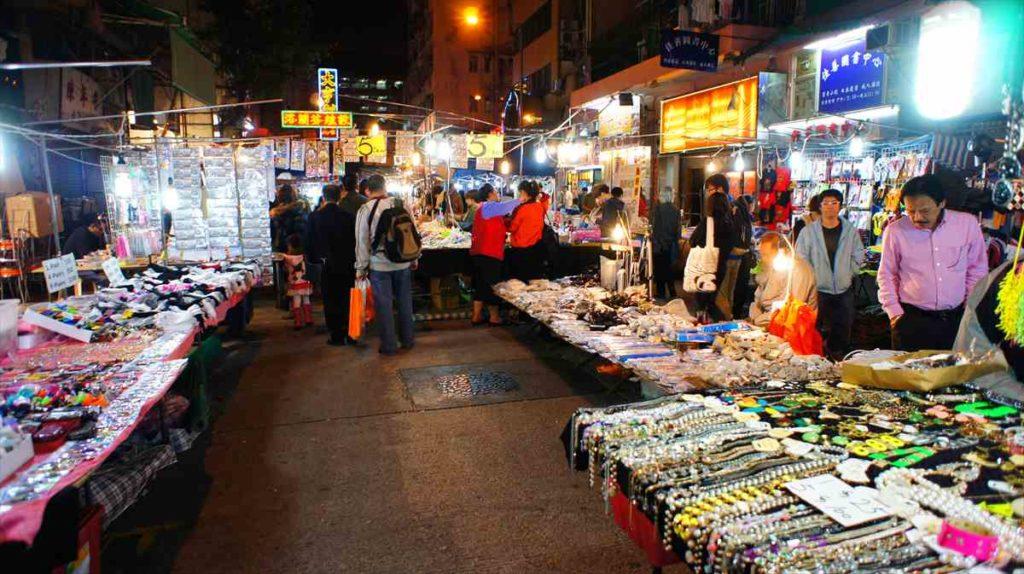 香港の女人街周辺