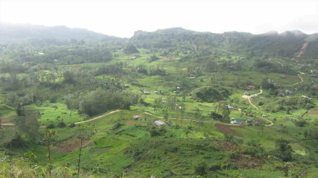 オスメニアピーク登山中の景色