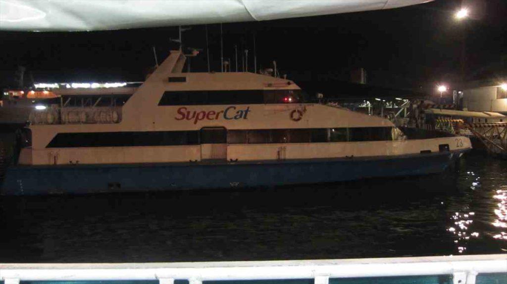 タグビラランからセブに帰るスーパーキャット