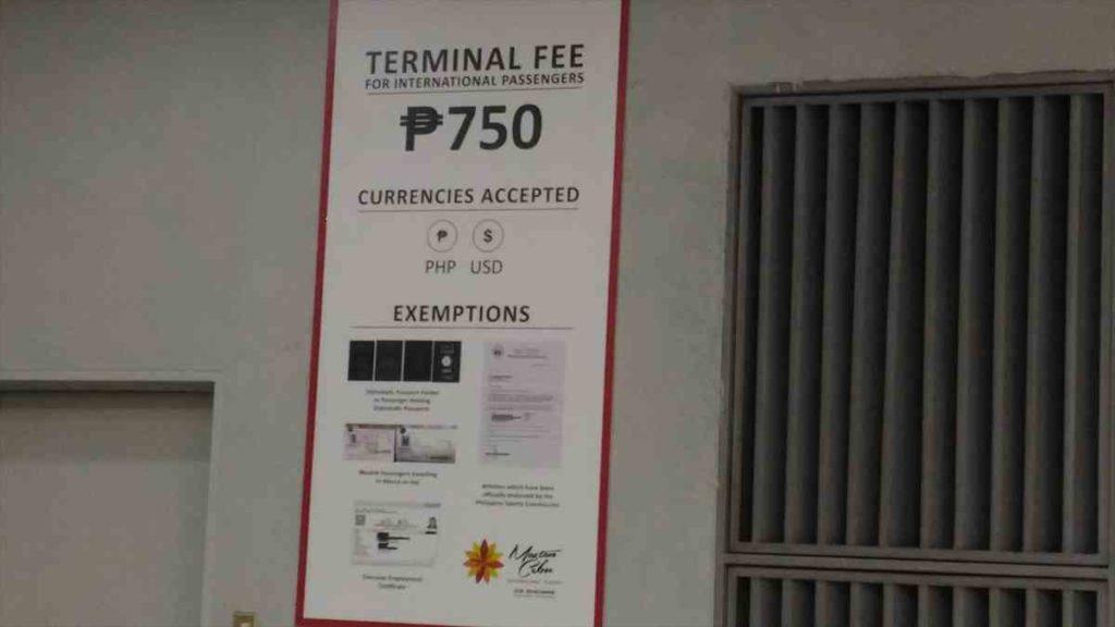 セブ・マクタン国際空港の空港税